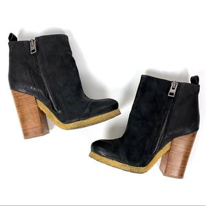 All Saints Black Lakote Boots Leather 8 39 EU